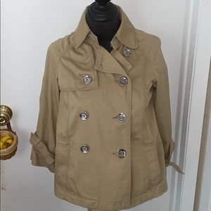 Michael kors military style jacket small petite
